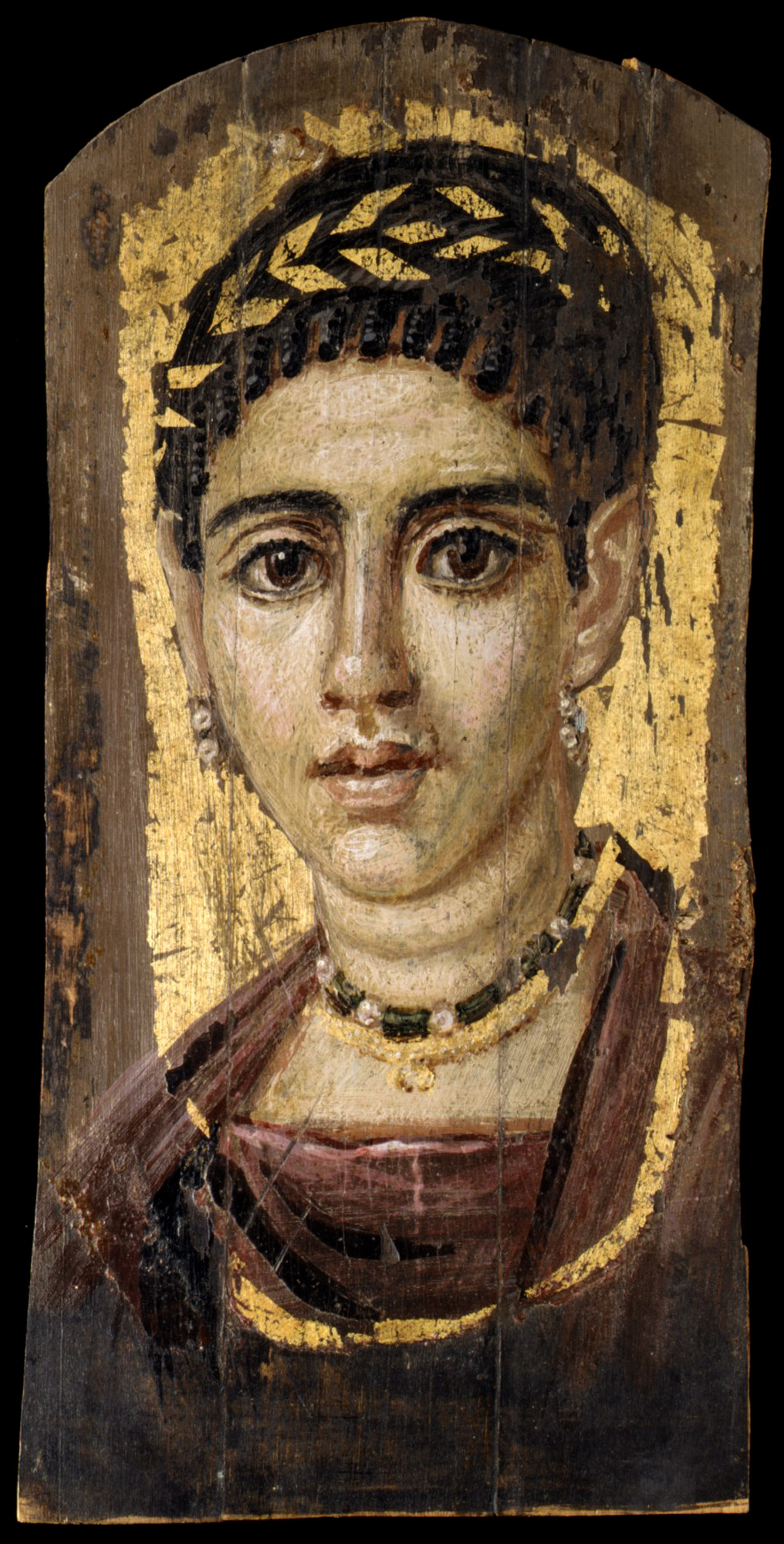 Portrait of a Young Woman with a Gilded Wreath - A Fayum