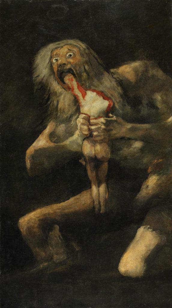 Romanticism detail Rococo Art Poster 1819-23 Saturn Devouring His Son GOYA